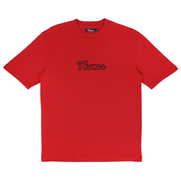 Thames Logo T-Shirt Crimson