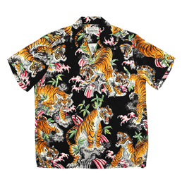 Wacko Maria Tim Lehi S/S Hawaiian Shirt 2 Black