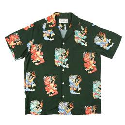 Wacko Maria Tim Lehi S/S Hawaiian Shirt 3 Green