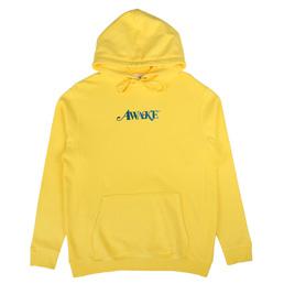 Awake NY Metallic Foil Logo Hoodie Yellow