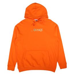 Awake NY Metallic Foil Logo Hoodie Orange