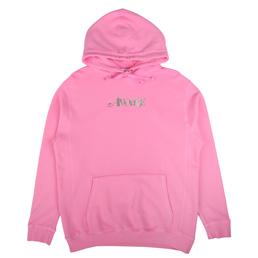 Awake NY Metallic Foil Logo Hoodie Pink