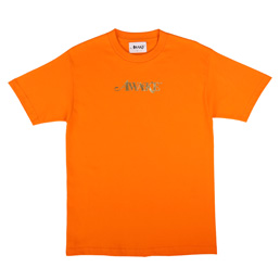 Awake NY Metallic Foil Logo T-Shirt Orange