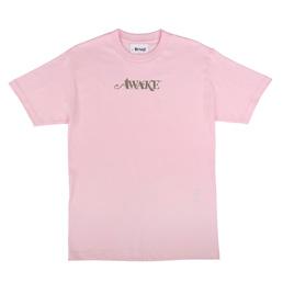 Awake NY Metallic Foil Logo T-Shirt Pink