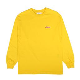 Awake NY L/S Wave Logo T-Shirt Yellow