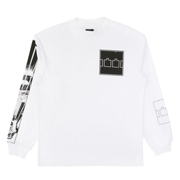 Trilogy Tapes Comic LS T-Shirt - White