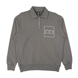 Trilogy Tapes Zip Crew Overdye Charcoal