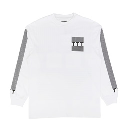 Trilogy Tapes Block Stripe L/S T-Shirt White