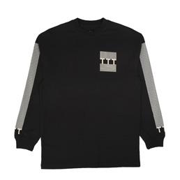 Trilogy Tapes Block Stripe L/S T-Shirt Black
