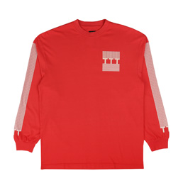 Trilogy Tapes Block Stripe L/S T-Shirt Red