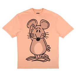 Trilogy Tapes Mouse T-Shirt Pale Orange