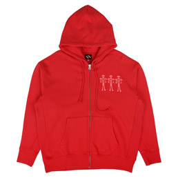 Trilogy Tapes Zip Hood Red