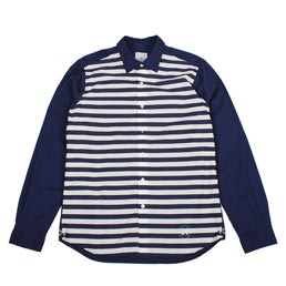 UE Front Border Regular Collar Shirt Navy