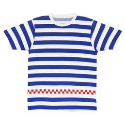 UE S/S Checker Tee Blue/ Red