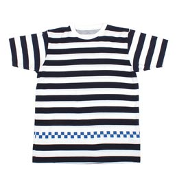 Uniform Experiment S/S Checker Tee Navy