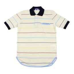 Junya Polo Stripe Shirt Beige/Multi
