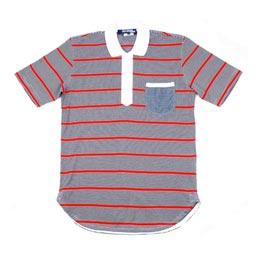 Junya Polo Stripe Shirt Navy/Red