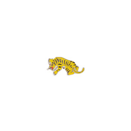 Wacko Maria Tiger Pin Yellow