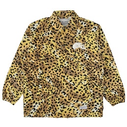 Wacko Maria Leopard Coach Jacket (Type-3) Yellow