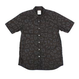 Uniform Experiment Big Leopard Star Regular Shirt