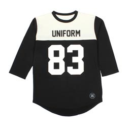 UE 3/4 Sleeve Numbering Football Tee Black